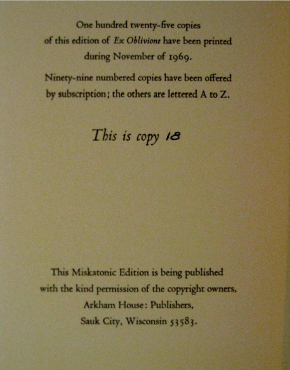 H.P. Lovecraft - Terrores Bibliográficos (1917-1959) | Noviembre Nocturno 15