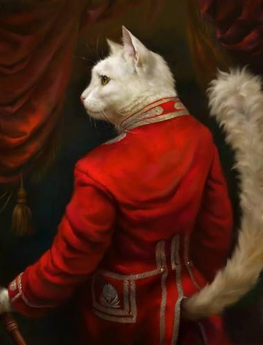 art by Eldar Zakirov, noviembre nocturno, ulthar, gatos