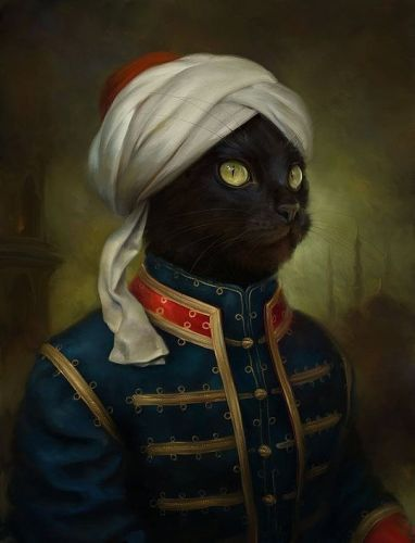 Eldar Zakirov , ulthar, noviembre nocturno, gatos