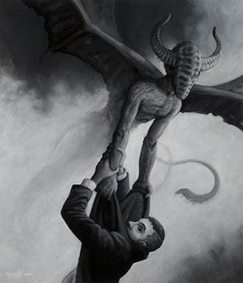 Demonio descarnado de la noche noviembre Nocturno