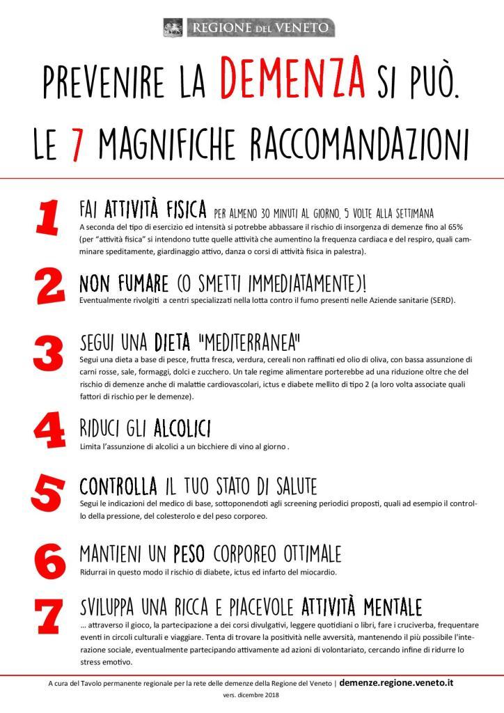 le 7 raccomandazioni per prevenire il deterioramento cognitivo