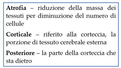 atrofia corticale posteriore descrizione