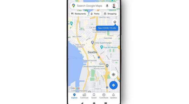 Google Maps показуватиме локальну статистику щодо COVID-19