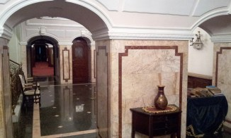 The lobby area of the hotel