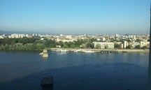 The view from the hotel room onto the city of Novi Sad