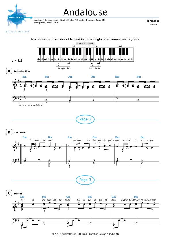 Kendji Girac La Mama : kendji, girac, Partition, Piano, Kendji