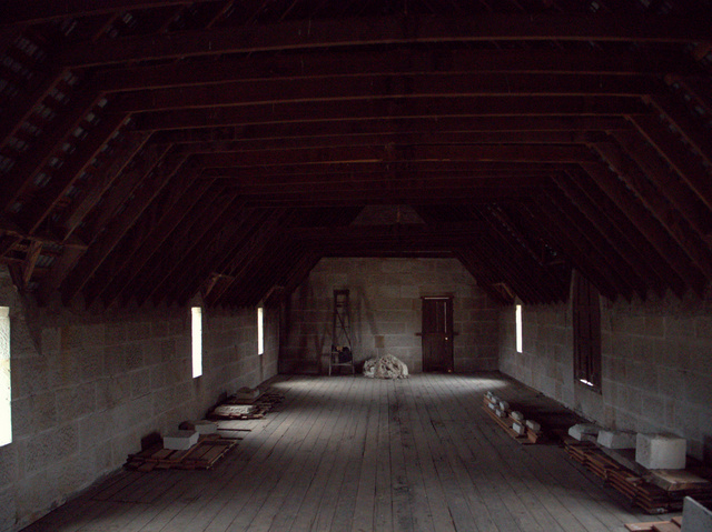 The floor above the stables accommodated convicts, labourers and grooms.