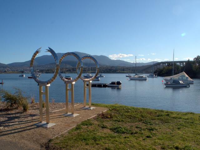 Tasman Bridge Disaster Memorial, by Poco People (Kelly Eijdenberg & Travis Tiddy), located in Montagu Bay Park