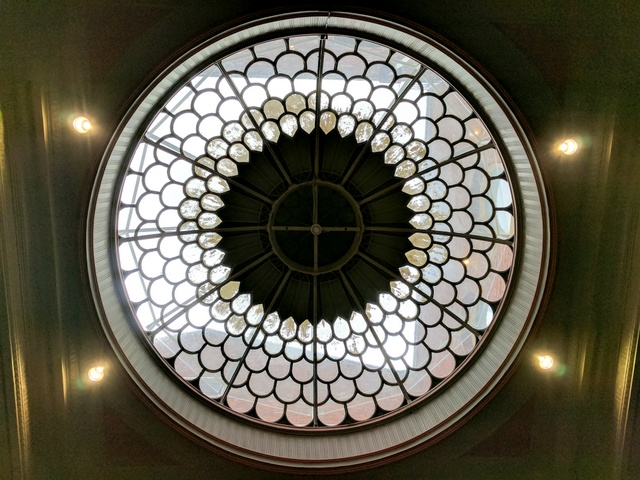 The dome from inside the postal hall at the Hobart General Post Office