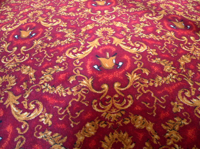 The carpet in the clubrooms was specially made by a factory in Devonport