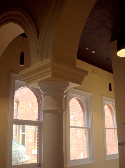 Inside the renovated first floor of Hobart's GPO