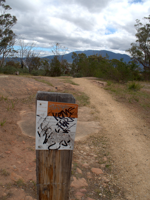 Unfortunately many of the wayfinding signs have been vandalised or are missing