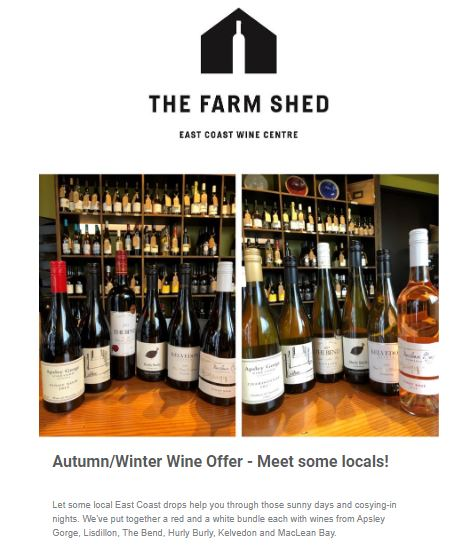 Enewsletter for The Farm Shed