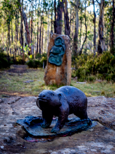 Wombat and snake - Steppes Sculptures by Stephen Walker