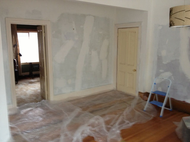 Interior painting under way, mid 2012