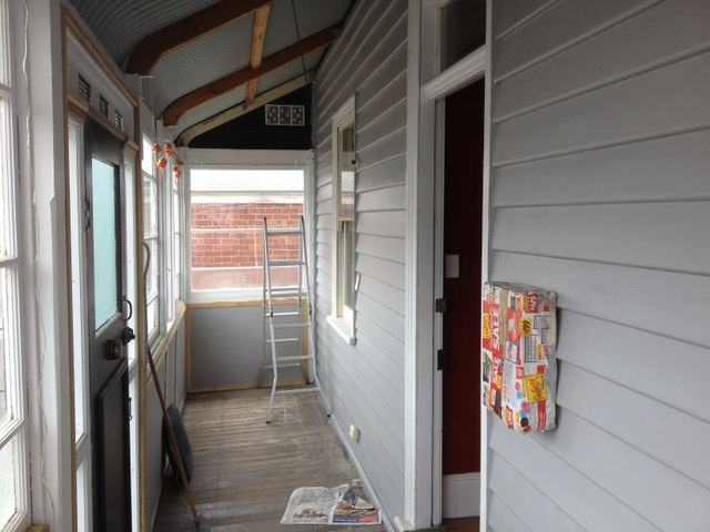 Painting the front porch, early 2013