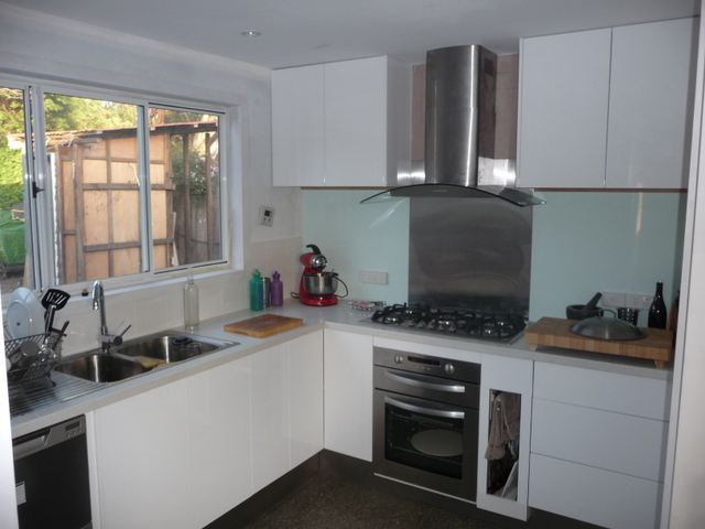 The new kitchen starting to look almost functional
