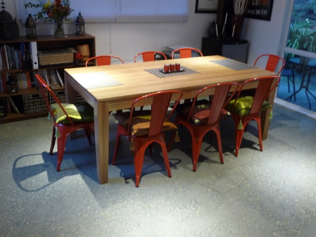 A new dining table looks more at home