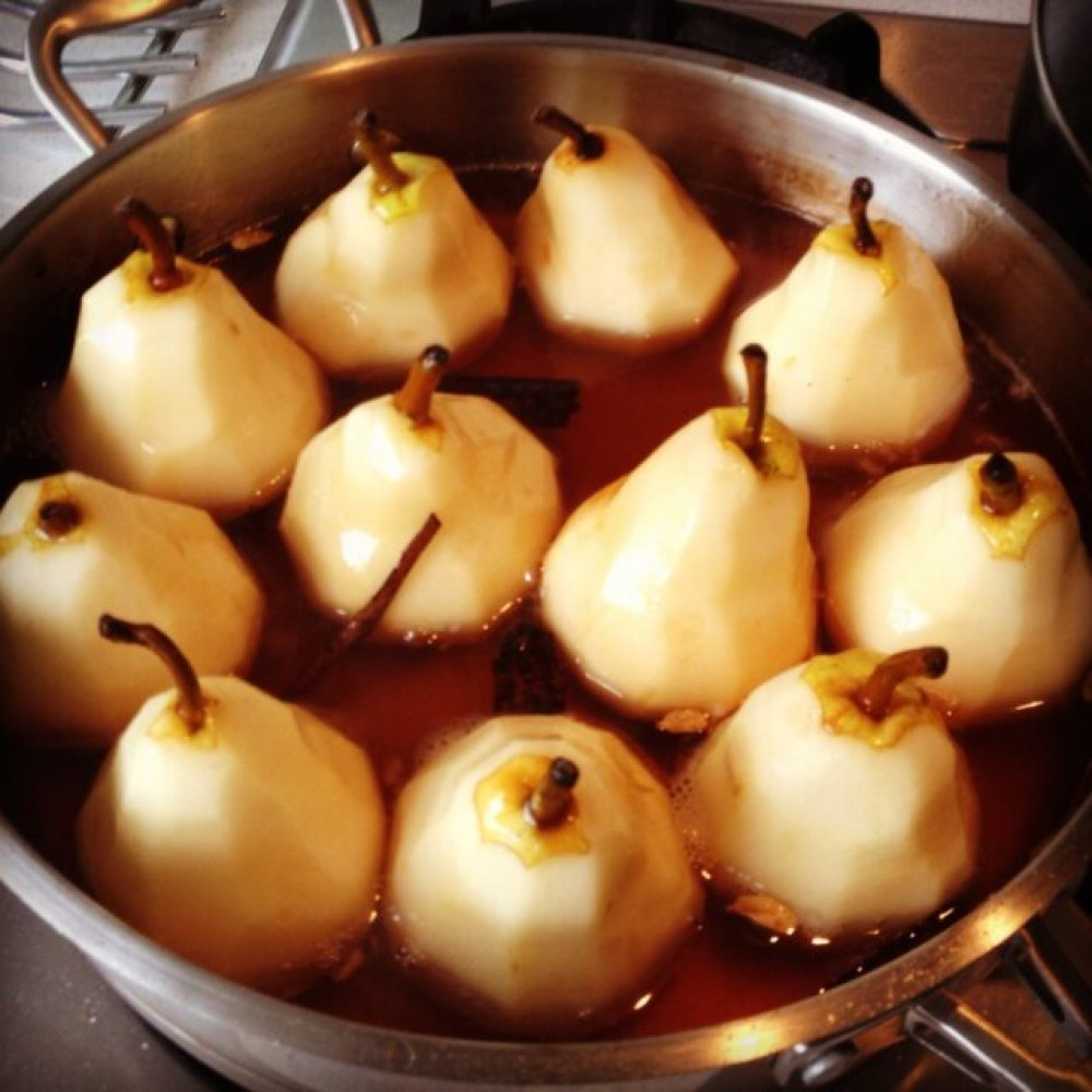 Poaching some of my pears