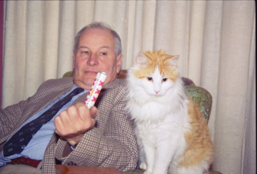 Dad and Claude, circa 1995