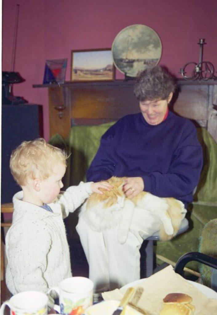 Alex, mum and Claude circa 1995