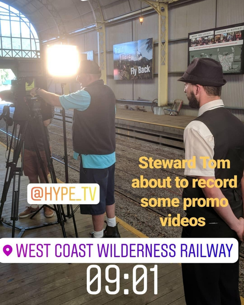 Every moment is a marketing opportunity! An Instagram story post during the filming