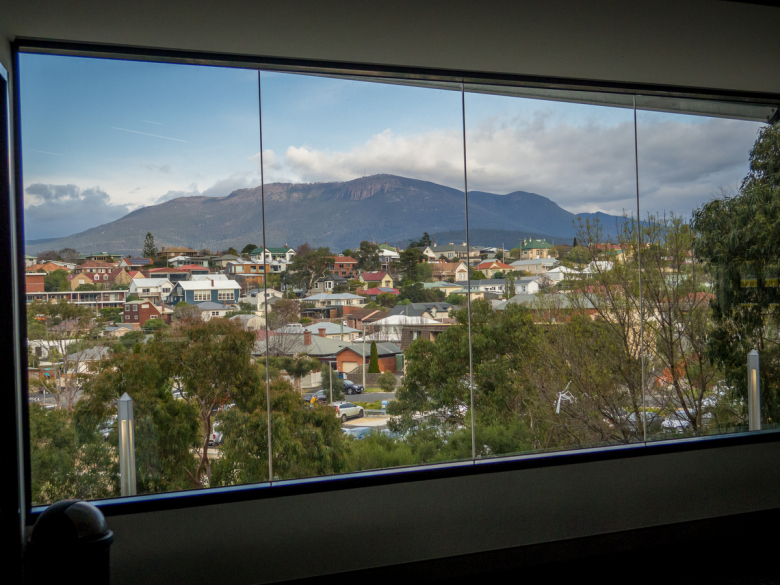 kunanyi / Mount Wellington from the DST Summit 2019 at Bellerive Oval