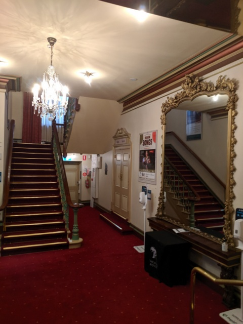 The orignial foyer is still there, having been spruced up.