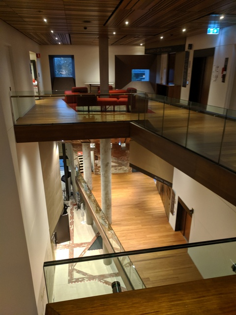 View through several levels of the Conservatorium of Music at The Hedberg