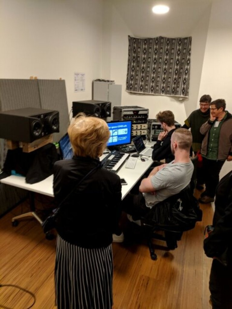 Conservatorium students at work on recordings