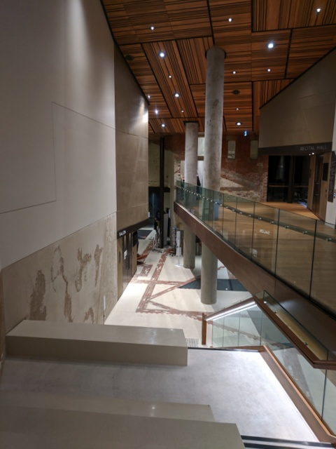 Foyer areas of the Recital Hall and Conservatorium