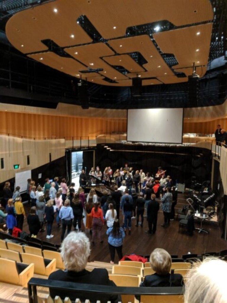 Inside the Ian Potter Recital Hall at The Hedberg