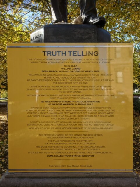 Allan Mansell, Truth Telling - a reinterpretation of the statue of William Crowther, nineteenth century naturalist and surgeon, and briefly Premier of Tasmania
