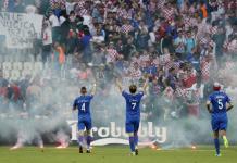 Huligani na utakmici Hrvatska - Češka