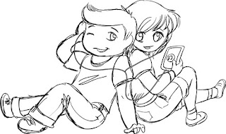 friends coloring chibi pages teens doodle forever rocks