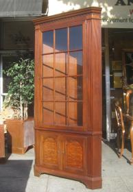 display cabinet corner furniture collectibles sold
