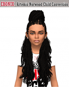 sims hair hairstyles child cc norwood converted curly simblr ebonixsimblr conversion hairstyle braids lond london artemis children afro mods sims4ccthebest