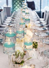 candles tiffany decorations table copas floating candle centros mesa centerpieces tables weddings turquoise casamento boda chic velas flowers altas shabby