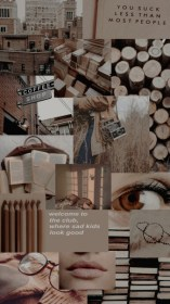 aesthetic brown collage backgrounds wallpapers gambar iphone