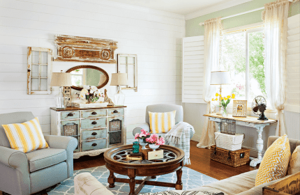 cottage living decor colorful decorating retro decorate wall architectural renovations cottagesandbungalowsmag give cozy accessories entertaining renovating indoors designs curtain chairs
