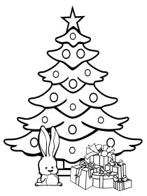 coloring tree christmas pages childrens