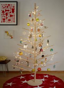 christmas modern tree trees wood decorate minimal season holiday