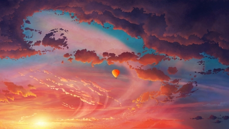 Sunset Fantasy & Abstract Background Wallpapers on