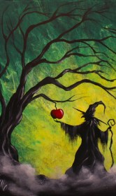 acrylic painting easy beginners paintings halloween canvas paint fall tree step try cartoondistrict drawings face christmas witch stumbleupon google tutorials