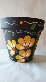 pot pots painting painted designs flower easy clay diy hand beginners flowers paint simple plant pottery terracotta pintadas creative barro
