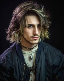 hairstyles long hair mens medium hairstyle styles haircuts guys cool improb length textured messy really thick