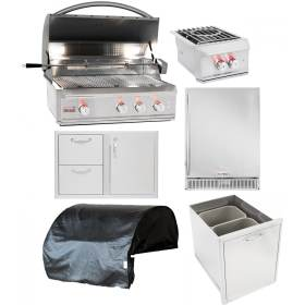 equipment packages bbqguys kitchens blaze package gas bbq professional inch piece island appliances refrigerator grill