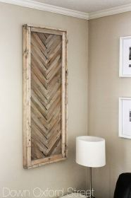 wall rustic wood decor diy shim wooden farmhouse chevron hanging projects country walls designs chic oxford down street toned multi