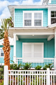 Bright turquoise house