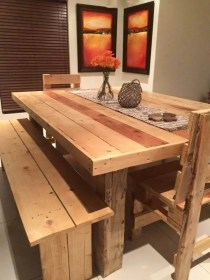 pallet diy chairs wooden dining furniture table pallets easy tables wood kitchen cost low projects moolton duty heavy making 101palletideas